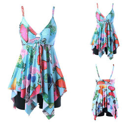 Plus Size Women Swimsuit Floral Tankini Bikini Swimwear Bathing Dress Suit US $24.69