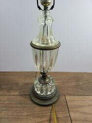 Antique Glass And Brass Table Lamp Art Deco $99.00