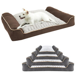 Waterproof Bolster Large Dog Bed Extra Large Pet Bed Completely Removable Cover $59.99