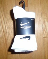 Nike 8 Pair Little Boys Socks White Crew Black Swoosh XXS 4 5 Years NWT $13.97