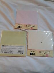 Traditional Japanese Paper Origami 150mm x 150mm 20 Sheets Lot of 3 $16.28