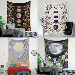 Psychedelic Moon Starry Tapestry Room Flower Wall Hanging Dorm Home Art Decor US $11.99