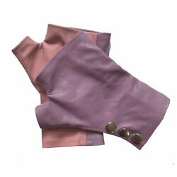 Two color Rose Fingerless leather Gloves $50.00