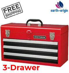 CRAFTSMAN Portable Tool Box 20.5 in Ball bearing 3 Drawer Red Steel and Lockable $75.88