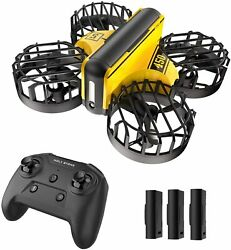 Holy Stone HS450 Mini Drone Hand Operated Obstacle Avoidance RC Quad 3 Batteries $29.99