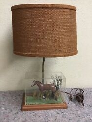 Vintage Lamp With Horse Diorama $39.99