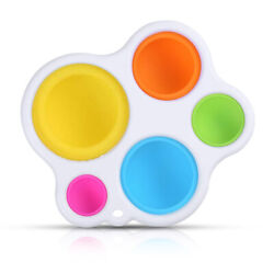 Baby Simple Dimple Sensory Fidget Toy Silicone Flipping Board Kids Adult Gift $7.99