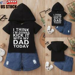 2PCS Newborn Baby Boys Clothes Hooded Tops Trousers Pants Tracksuit Outfits Set $17.95