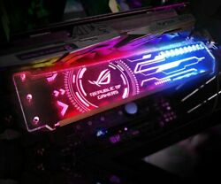 RGB VGA Holder Customizable Horizontal GPU Bracket Video Card Support AURA 12V $51.29