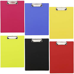 6x Neon Plastic Clipboard Large Heavy Duty 9quot;x12quot; for Teacher Nurse Industrial $12.99