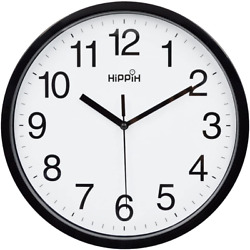 Modern Wall Clock Silent Non ticking Battery Operated 10quot; Round Clock Home Decor $9.40