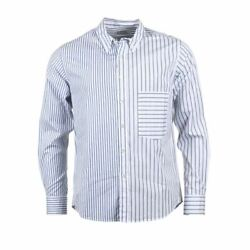 LOREAK MENDIAN Shirt Navy amp; White Stripe Cotton Size Small HD 359 $48.30