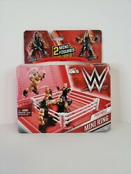 WWE PORTABLE MINI RING MIGHTY MINIS 2 FIGURES amp; RING ROMAN REIGNS amp; SETH ROLLINS $20.99