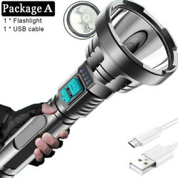 90000lm Super Bright LED Flashlight Torch Tactical Rechargeable Built in Battery $11.66