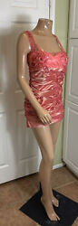 Couture English Clientele Spring Beaded Dress Runway Dress Short