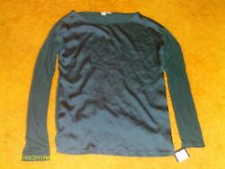 HALOGEN Women#x27;s Blouse SLATE BLUE SIZE S LONG SLEEVE New w NORDSTROM TAG $4.50