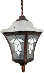 Outdoor Pendant Light Fixture Vintage Hanging Tiffany Style Porch Stained Glass $27.50
