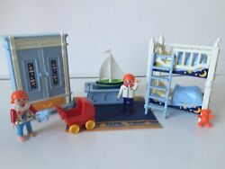 Playmobil Children#x27;s Bedroom for Victorian Mansion dolls house based on 5328 GBP 20.00
