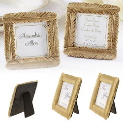 Gold Tone Small Feather Photo Frame Picture Display Desk Room Party Fancy Decor $7.88