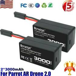 Rechargeable 11.1V Battery for Parrot AR Drone 2.0 3000mAh Lithium ion polymer $30.99