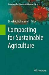 Composting for Sustainable Agriculture English Paperback Book Free Shipping $169.43