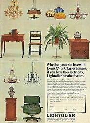 1965 LIGHTOLIER Lighting Goes with CHARLES EAMES Chair Mid Century Modern AD