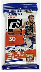 2020 21 Panini Donruss Basketball Fat Pack 30 Cards Factory Sealed 👀🔥🏀 $16.95
