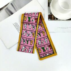 Adorable Cat Kitten Friendship Hanging Twilly Scarf Neck Scarf Bag Scarf $9.99