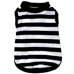 Pet Clothes Cotton Black And White Striped Vest Pet Cats Small Dog Spring Summer $8.99