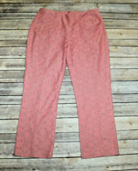 Anthropologie COREY LYNN CALTER Youghal Lace Pants Women#x27;s Ankle Crop Size 8 $17.95