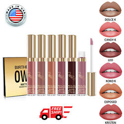 6 Set Fashion KYLIE Jenner Birthday Edition Matte Liquid Lipstic Free Shipping