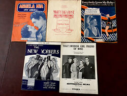 Five Vintage Sheet Music Songs Sophie Tucker The New Yorkers 3 $9.25