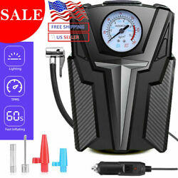 Portable Air Pump Electric Inflator Auto Car Bike Tire Air Compressor 12V 300PSI $12.99