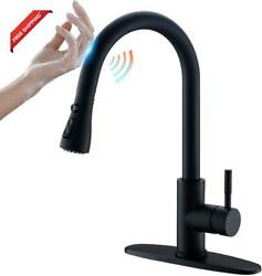 Touch Kitchen Faucet With Pull Down Sprayer Pull Out Automatic Kitchen Sink Fau $144.92