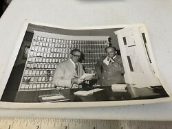 Old Photo Desk at Otesaga Hotel Cooperstown NY B amp; W real picture 5x7 $7.00