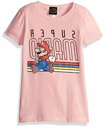 Little Girls Super Mario Classic Vintage Throwback Pink Size Small Q5CJ $12.00