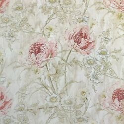 WOW Large Scale French Art Nouveau curtain 1900 Poppy floral pattern $595.00