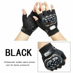 Tactical Military Gloves Men Army Steel Hard Knuckle Half Finger Outdoor Hunting $11.99
