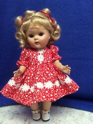 Reproduction Vintage Ginny Red Print Dress With White Daisy Lace Trim $19.50