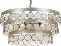 Crystorama Lighting Group 6006 Coco 6 Light 22quot;W Chandelier Silver $390.67