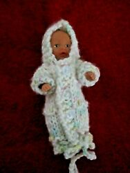Doll Clothes bunting with hood fit Zapf 4quot; can be used as coat hooded up to 7in $15.00
