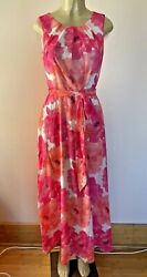 Anthropology Style Floral Cocktail Knee Lenghth Chiffon Dress Brand New Size M $39.00