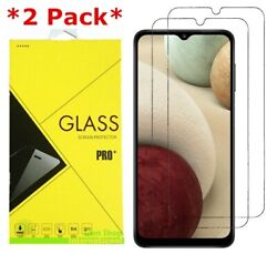 2 Pack Premium Real Tempered Glass Screen Protector for Samsung Galaxy A12 $3.95