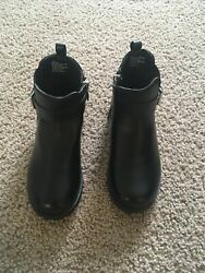 Black Girls Boots Size 1