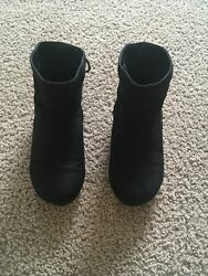 Black Girls Boots Size 2