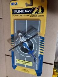 HO Scale Bell 206 Jetranger Police Helicopter With Runway #RW 055 $14.95