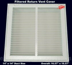 RETURN VENT COVER 14quot; x 14quot; Duct Size Filtered Air Grille Wall Ceiling White NEW $29.97