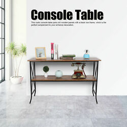 Console Table For Entryway Storage Shelf Entry Modern Farm Accent Sofa $117.51