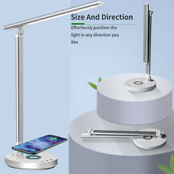 Multifunctional LED Desk Lamp with Wireless Charger USB Charging PortTouch $29.99