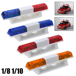 fOR 1 10 RC Car Police Emergency Light Bar 360° Rotation Police Flashing Square $13.99